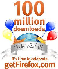 100 millions d'exemplaires de Firefox